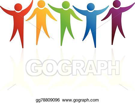 Get together logo clipart clip art library download Vector Illustration - People logo together. EPS Clipart gg78809096 ... clip art library download