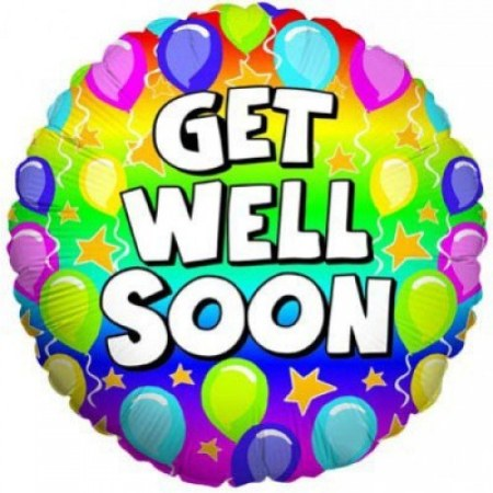 Get well balloons clipart jpg black and white stock Get Well Soon Balloon jpg black and white stock