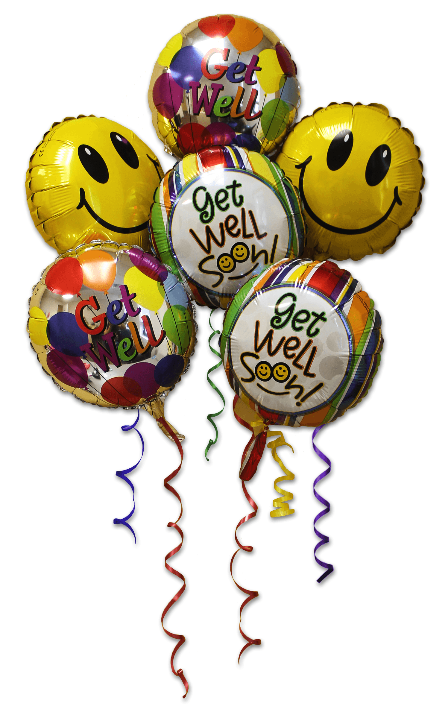 Get well balloons clipart svg royalty free Get Well Balloon Bunch svg royalty free