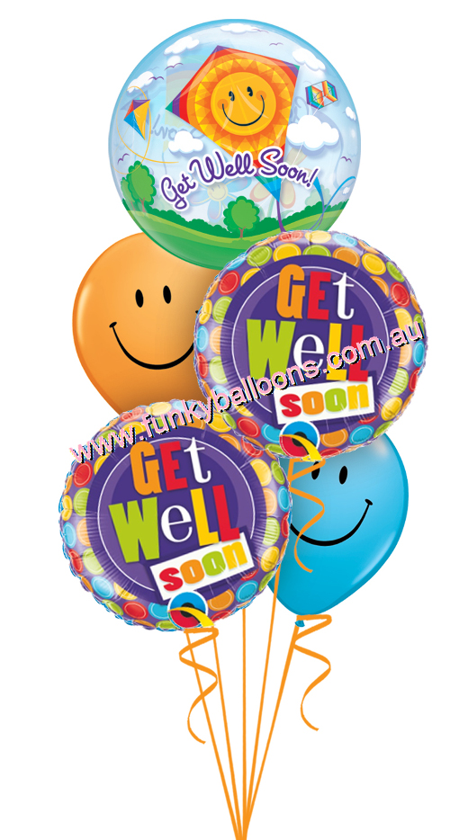 Get well balloons clipart clip art royalty free download GET WELL : Funky Balloons, Brisbane (QLD) Helium Balloon Gift ... clip art royalty free download