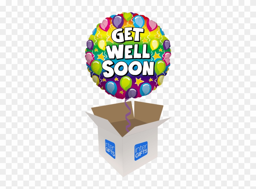 Get well balloons clipart png black and white Get Well Soon Rainbow Balloons Clipart (#2426285) - PinClipart png black and white