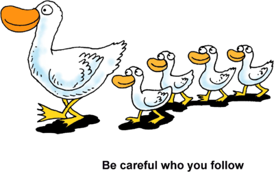 Get your ducks all in a row clipart jpg download Image: Ducks in a Row - Be careful who you follow   Christart.com jpg download