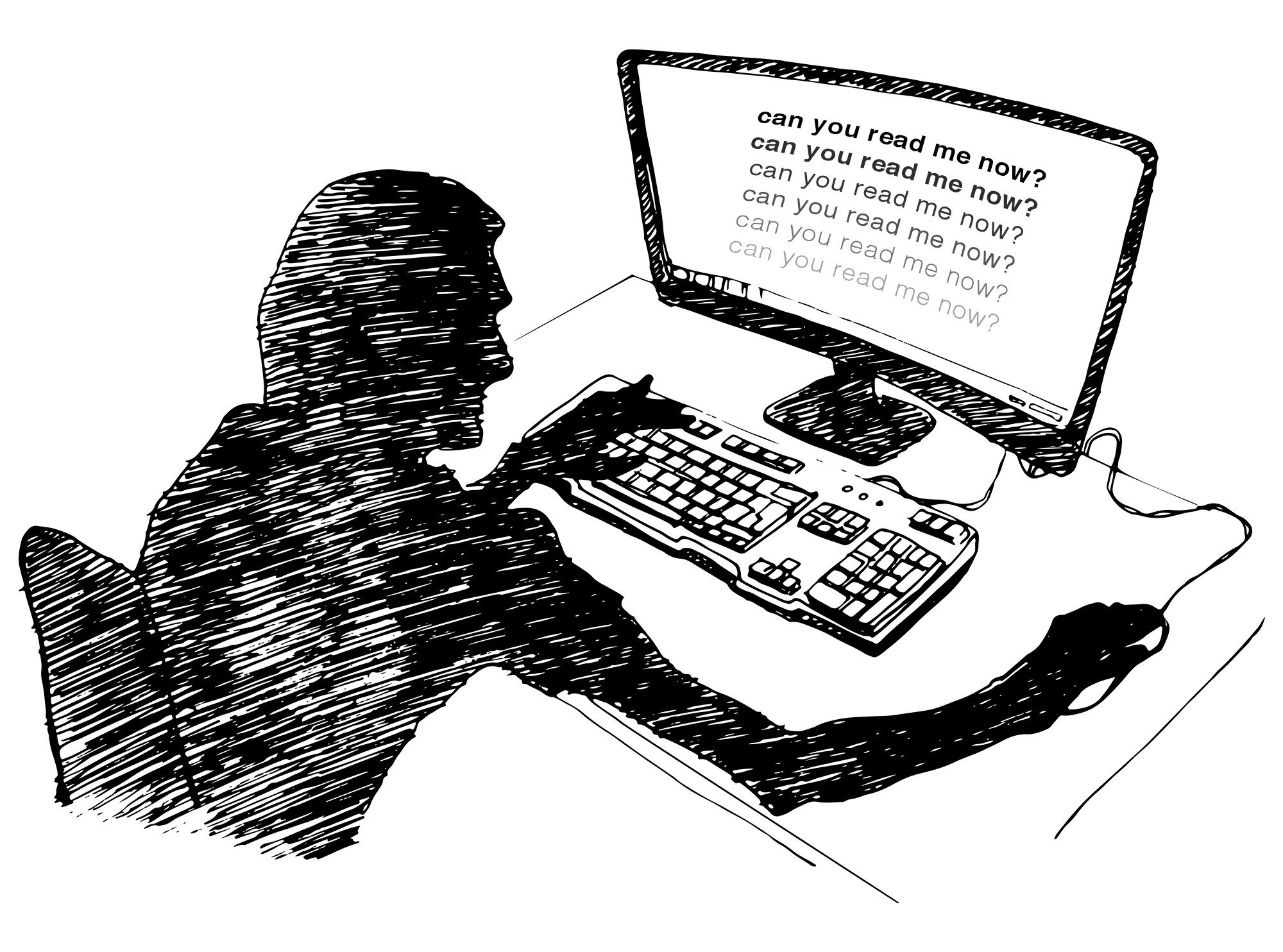 Getting harder and harder to read small print clipart graphic black and white stock How the Web Became Unreadable   WIRED graphic black and white stock