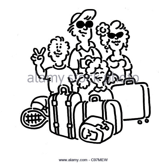 Getting ready for a trip clipart black family clip art Travel Clipart Black And White | Free download best Travel Clipart ... clip art