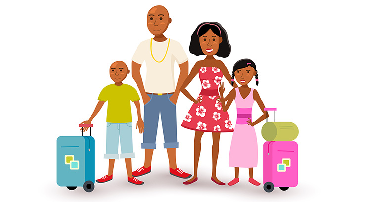 Getting ready for a trip clipart black family graphic transparent library Have Kids, Still Travel: Affordable Vacations The Entire Family Will ... graphic transparent library