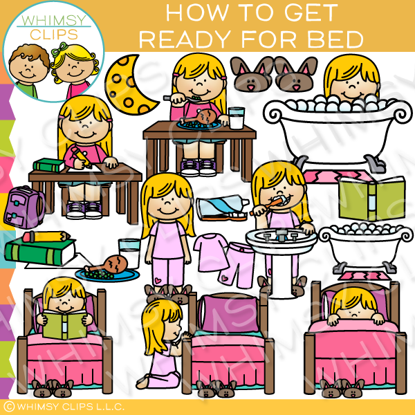 Getting ready for bed clipart clip How to Get Ready for Bed Clip Art clip