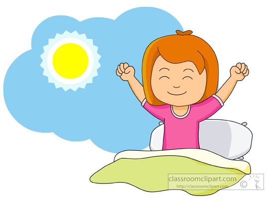 Getting up clipart clip royalty free stock Girl Waking Up And Stretching In The Morning Classroom Clipart ... clip royalty free stock