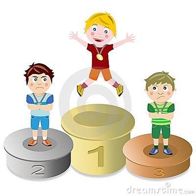 Gewinner und verlierer clipart banner freeuse library Kids Podium Stock Illustrations – 39 Kids Podium Stock ... banner freeuse library