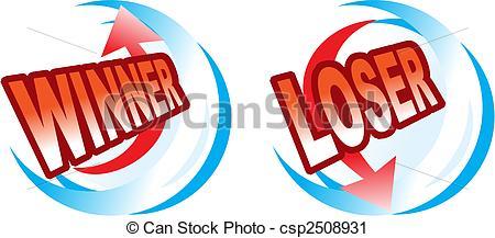 Gewinner und verlierer clipart picture Vektor Clip Art von gewinner, -, verlierer, heiligenbilder ... picture
