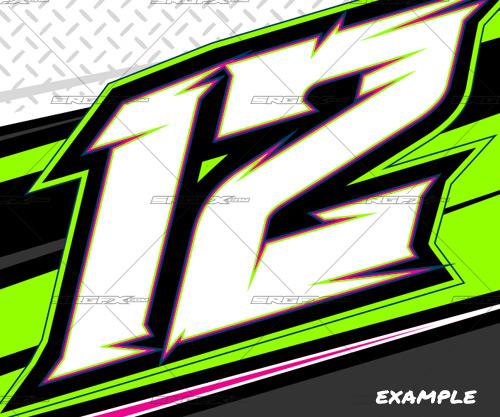 Gfx clipart pack svg download Vector Racing Number Set 3   School of Racing Graphics svg download