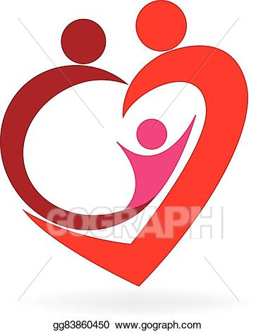 Gg logo clipart banner free download Vector Art - Family love heart logo . Clipart Drawing gg83860450 ... banner free download