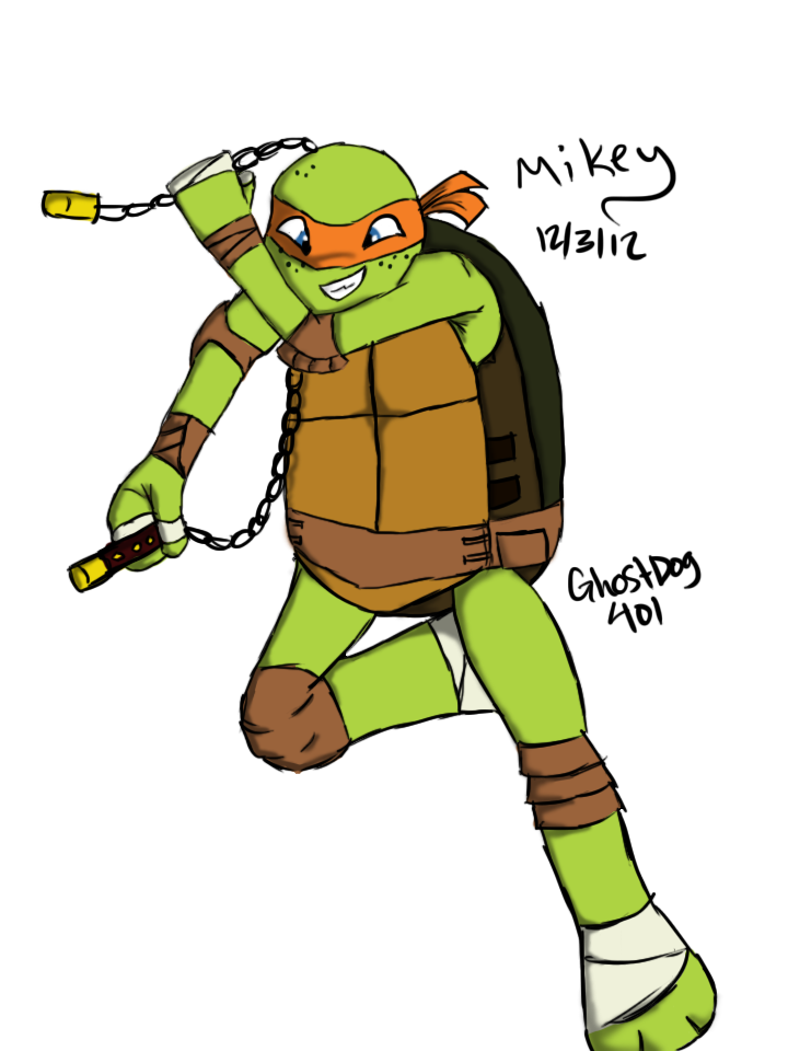 Ghost dog clipart graphic freeuse stock Michelangelo (TMNT) by GhostDog401 on DeviantArt graphic freeuse stock