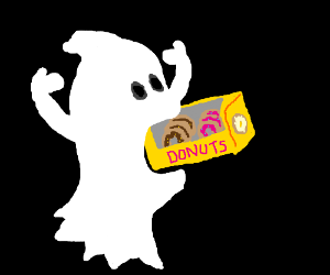 Ghost eating clipart picture freeuse library Ghost Eating Cliparts - Making-The-Web.com picture freeuse library