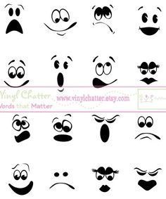 Ghost faces clipart graphic black and white library Faces you can use on making trashbag ghosts | Halloween | Halloween ... graphic black and white library