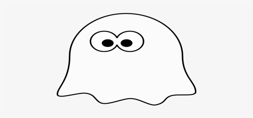 Ghost outline clipart clip Cartoon Coloring Medium Size Scary Cartoon Ghost Png - Outline ... clip