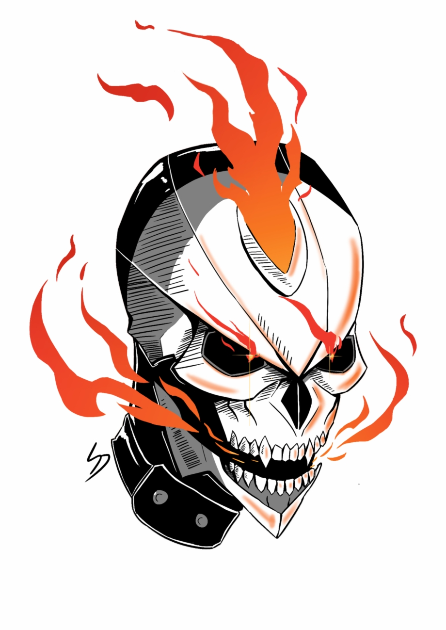 Ghost rider clipart svg stock Robbie Reyes Version Of Ghost Rider - Ghost Rider Free PNG Images ... svg stock