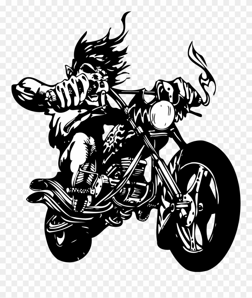 Ghost rider clipart png library Wall Decal Sticker Motorcycle Label - Ghost Rider Vector Free ... png library
