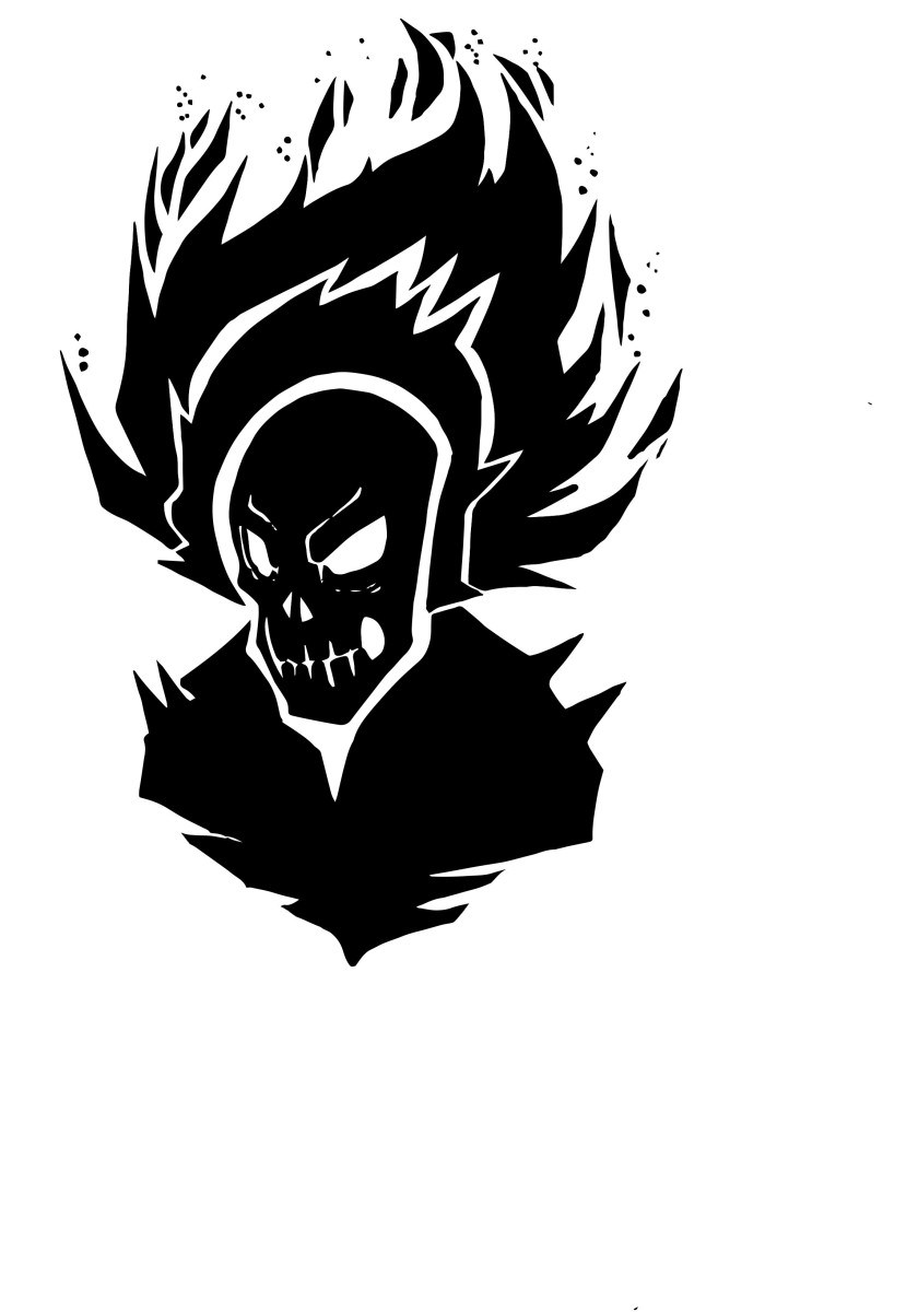 Ghost rider clipart banner transparent Ghost rider silhouette 2.psd » Clipart Portal banner transparent