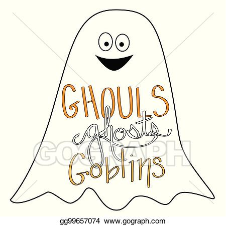 Ghosts and goblins clipart picture royalty free library EPS Vector - Happy halloween ghouls ghosts goblins. Stock Clipart ... picture royalty free library