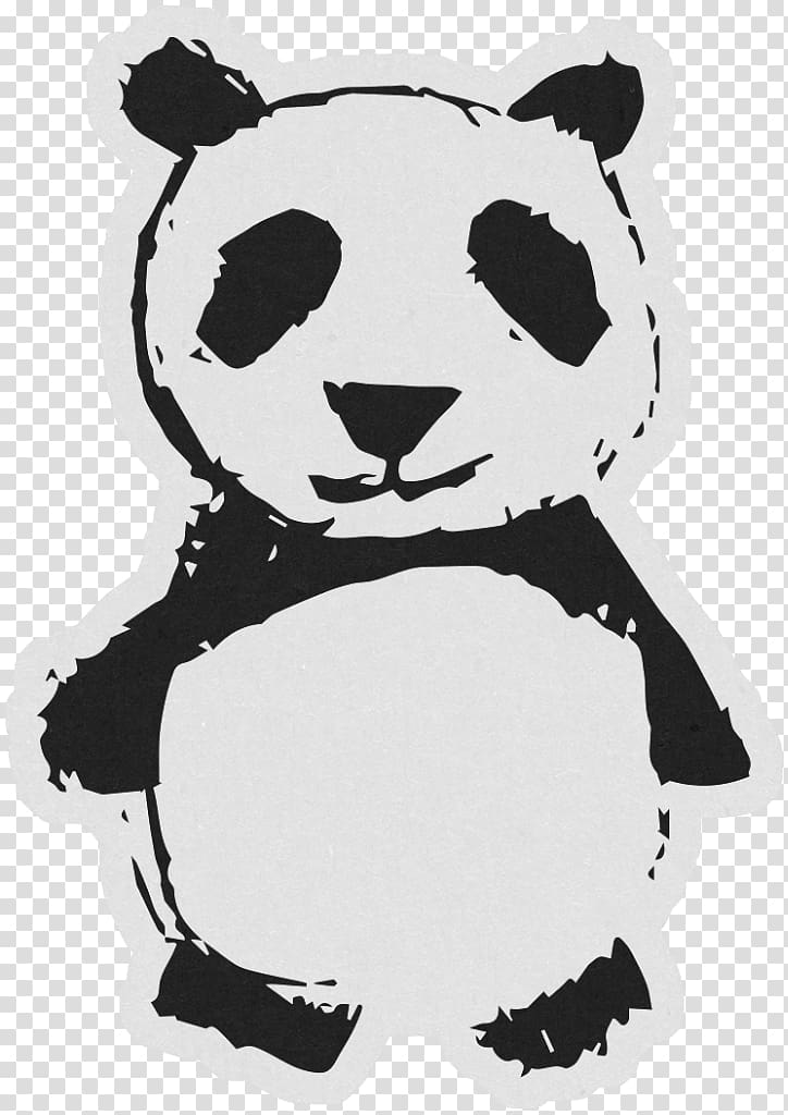 Giant clipart black and white vector royalty free Giant panda Teddy bear Black and white, panda transparent background ... vector royalty free