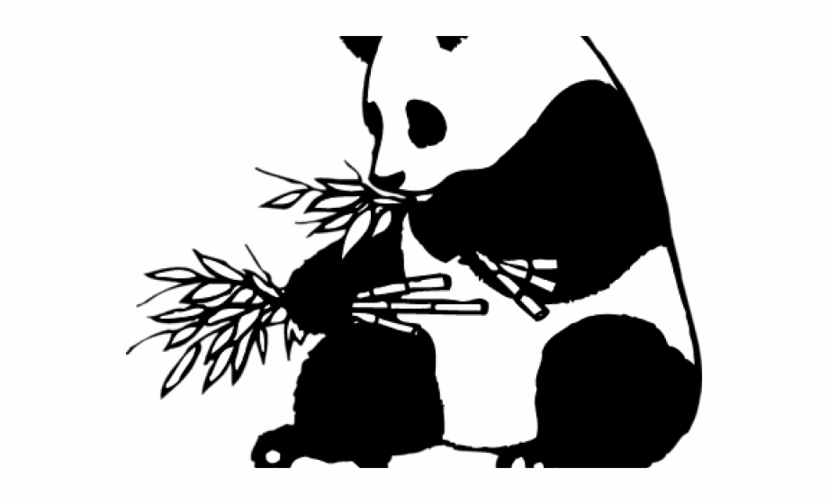Giant clipart black and white library Red Panda Clipart Giant Panda - Giant Panda Black And White Free PNG ... library