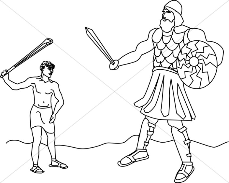 David and goliath clipart vector freeuse library David Battles the Giant Goliath | Old Testament Clipart vector freeuse library