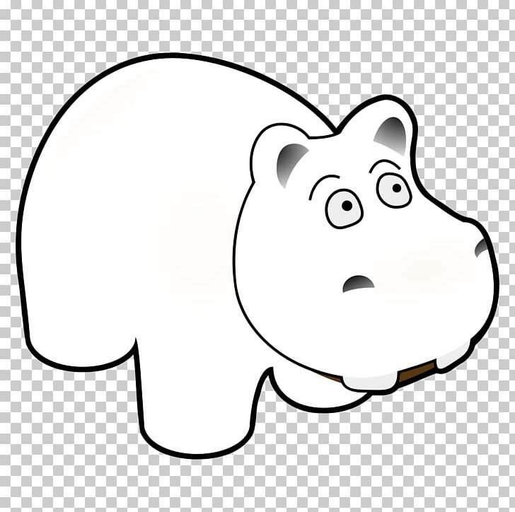 Giant clipart black and white clipart black and white download Hippopotamus Black And White Giant Panda Line Art PNG, Clipart ... clipart black and white download