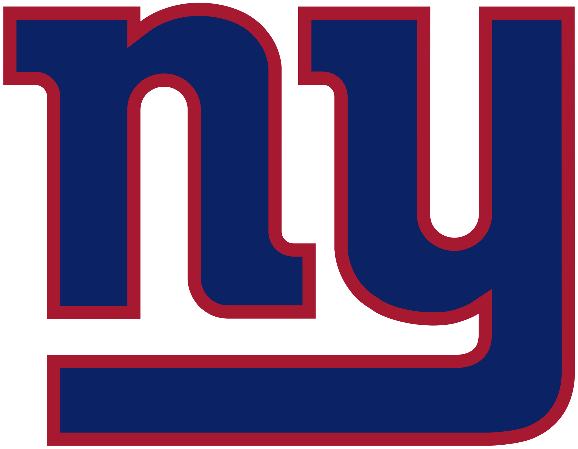 Giants football clipart banner transparent stock File:New York Giants logo.svg - Wikimedia Commons banner transparent stock