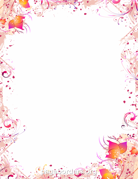 Gif clipart images of pink delicate flower borders banner transparent download Pin by Muse Printables on Page Borders and Border Clip Art ... banner transparent download