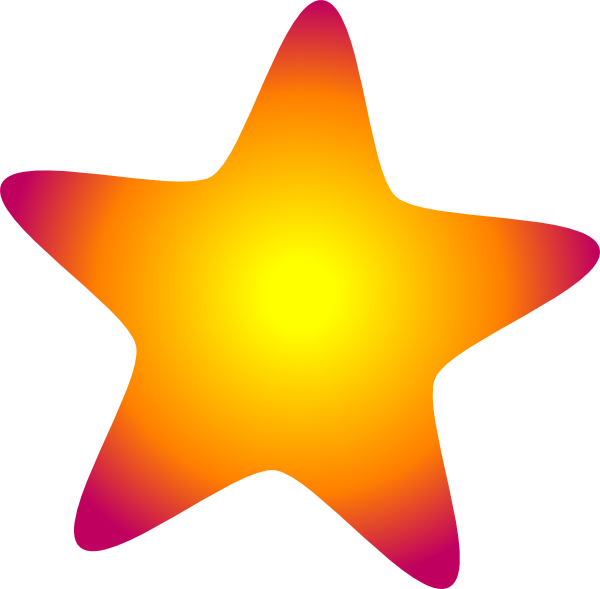 Glowing star clipart