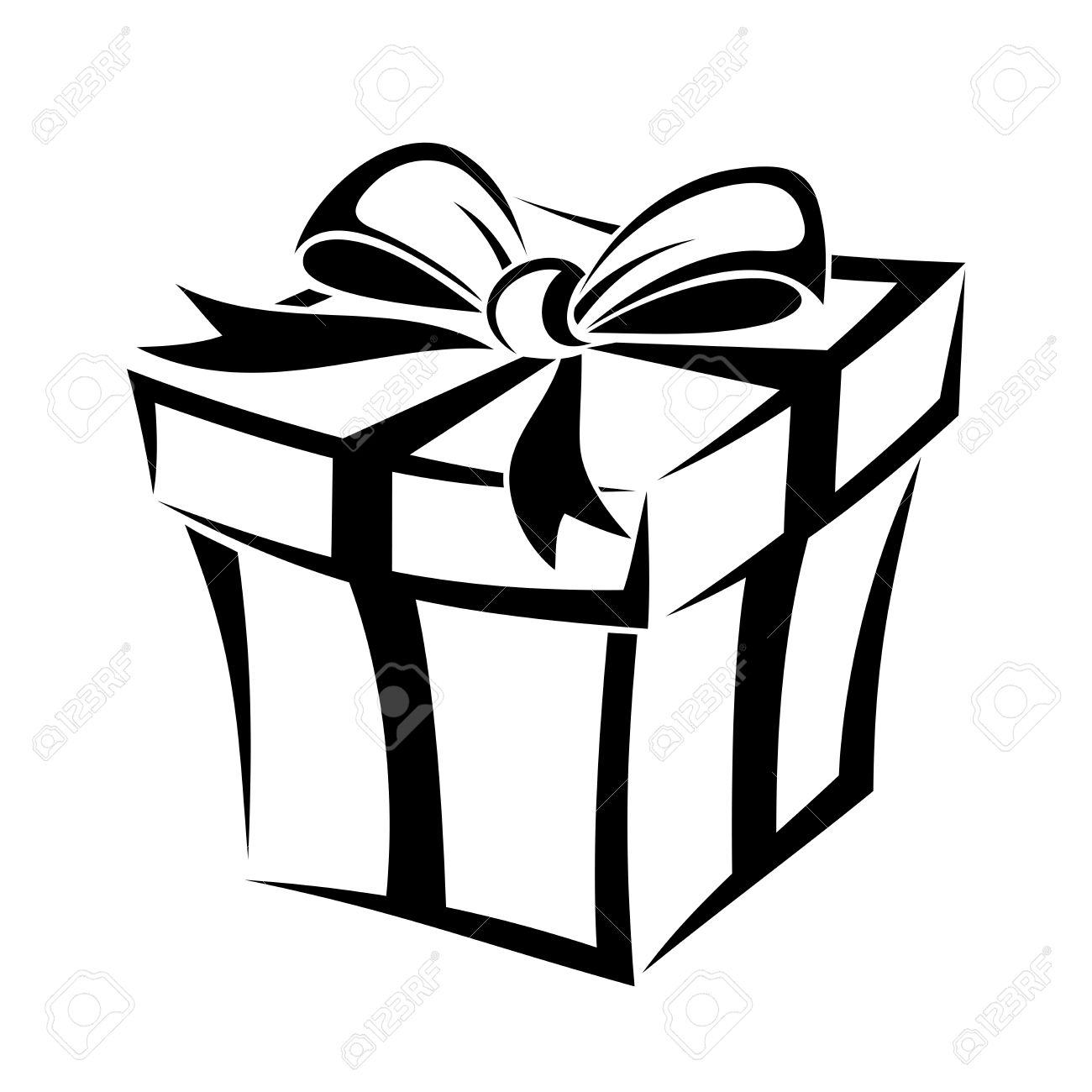 Gift box black and white clipart clipart free stock Gift box clipart black and white 6 » Clipart Station clipart free stock