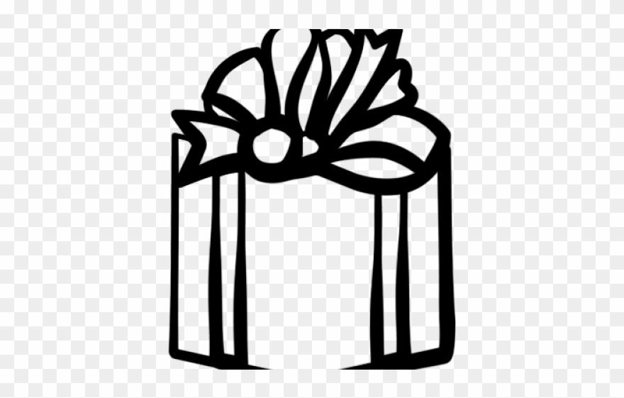 White gift box clipart clip art black and white download Black And White Gift Box Clipart - Png Download (#213092) - PinClipart clip art black and white download