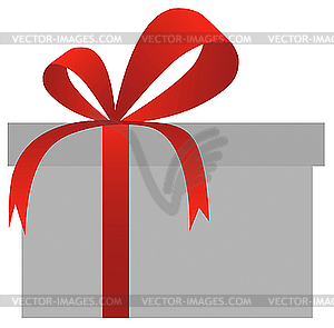 Gift box ribbon clipart free Gift box with red bow - vector clipart free