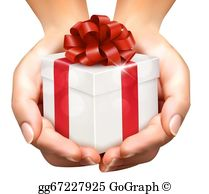 Gift giving clipart clipart transparent download Gift Giving Clip Art - Royalty Free - GoGraph clipart transparent download