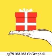 Gift giving clipart svg stock Gift Giving Clip Art - Royalty Free - GoGraph svg stock