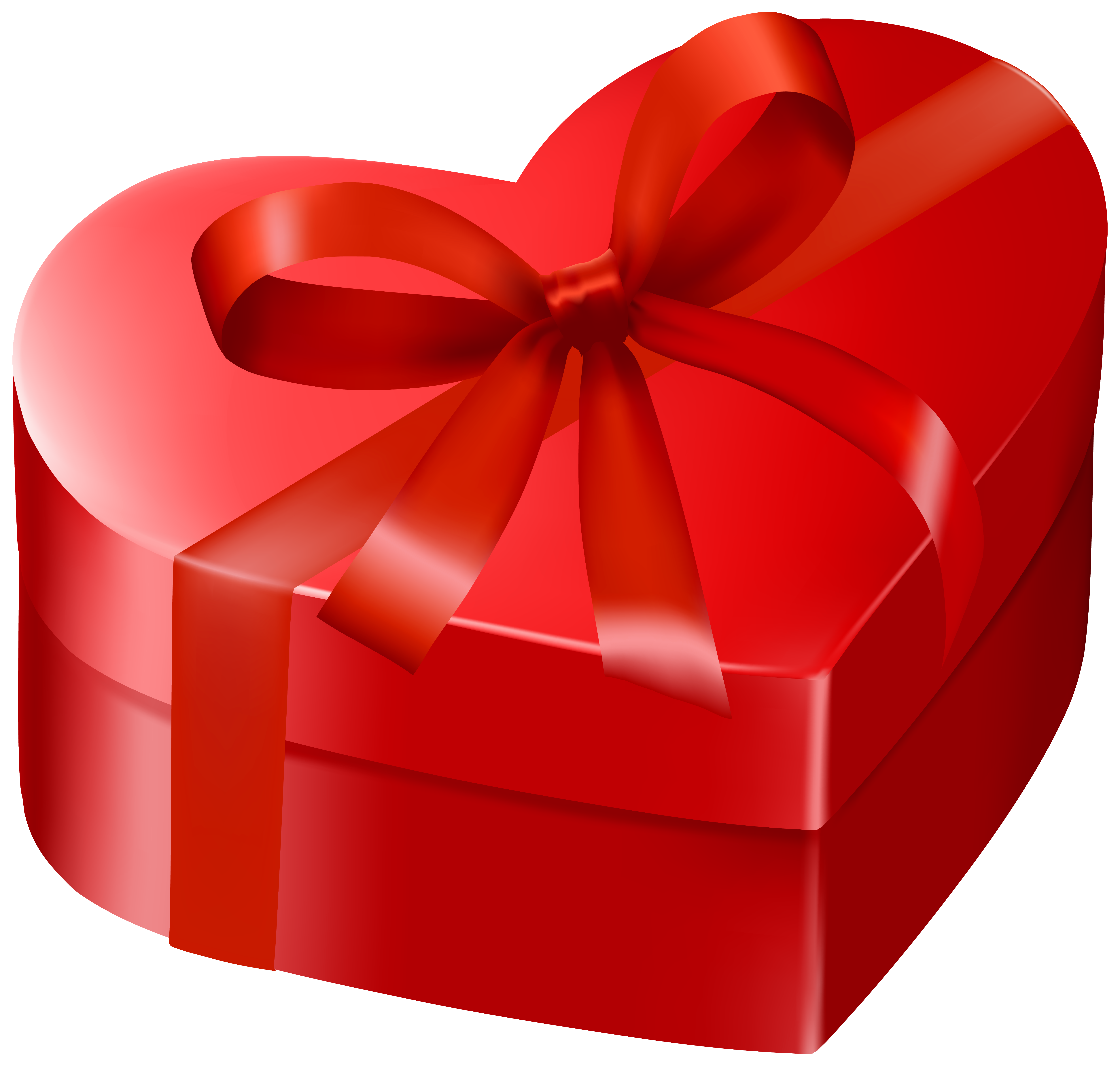 Gift heart clipart clip transparent Red Heart Gift Box PNG Clipart Image | Gallery Yopriceville - High ... clip transparent