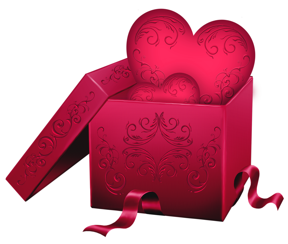 Gift heart clipart jpg freeuse download Transparent Gift Box with Heart PNG Clipart | СЕРДЦА HEARTS ... jpg freeuse download