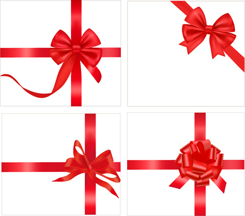 Gift ribbon vector clipart vector royalty free download Gift card with red ribbons design vector Free vector in Encapsulated ... vector royalty free download