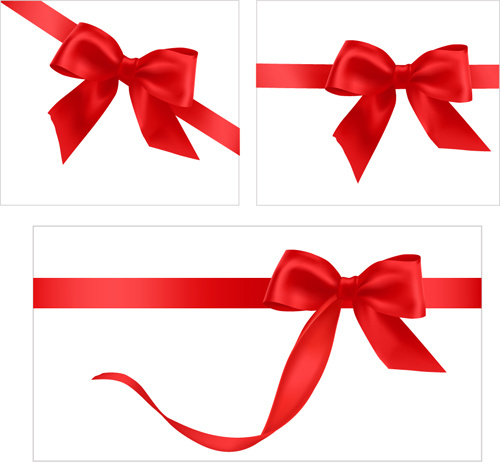 Gift ribbon vector clipart picture transparent stock Gift card with red ribbons design vector Free vector in Encapsulated ... picture transparent stock