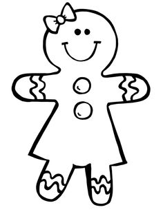 Ginger bread clipart black and white free image freeuse download Free Gingerbread Clipart Black And White, Download Free Clip Art ... image freeuse download