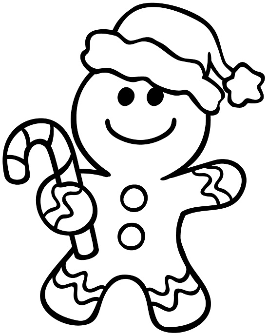 Ginger bread clipart black and white free picture freeuse library Gingerbread Man Clipart Black And White | Free download best ... picture freeuse library