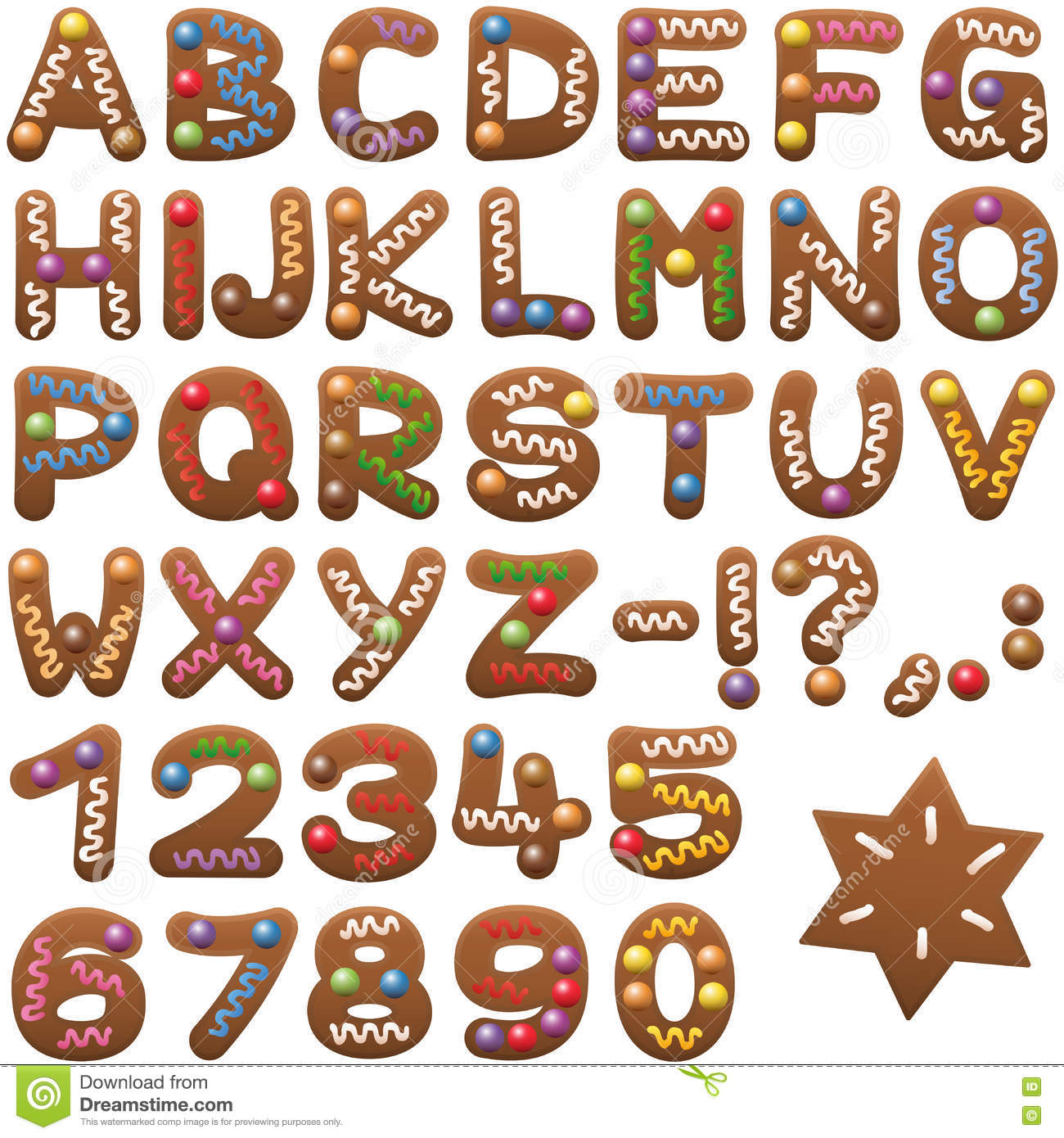 Gingerbread alphabet letter g clipart clipart freeuse download Gingerbread Alphabet Letters Font Stock Vector - Image: 80218083 clipart freeuse download