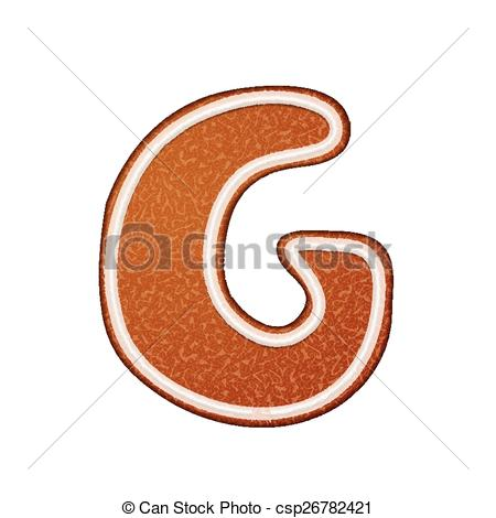 Gingerbread alphabet letter g clipart clipart free stock Vector Illustration of 3d lovely gingerbread cookie alphabet G ... clipart free stock
