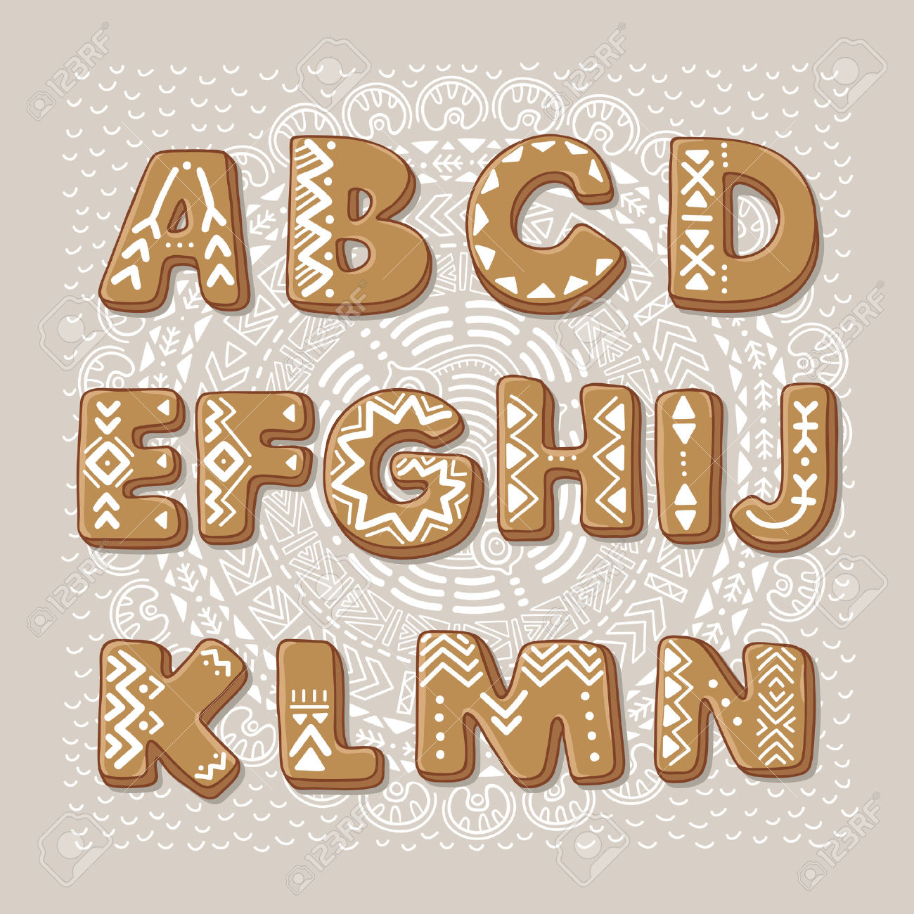 Gingerbread alphabet letter g clipart graphic free library Free Premium Cliparts - ClipartFest graphic free library