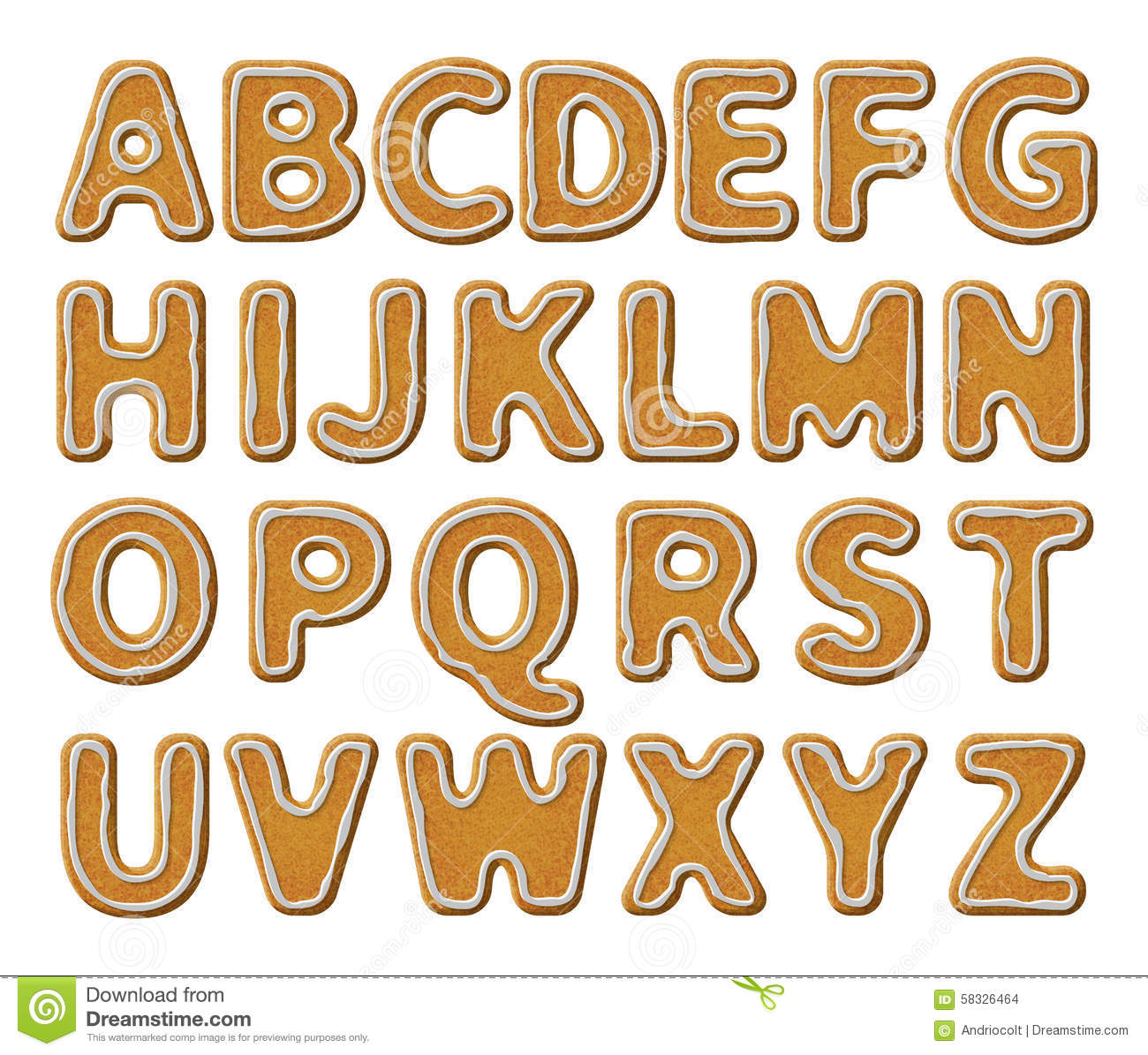 Gingerbread alphabet letter g clipart royalty free stock Gingerbread Alphabet Letters From G Stock Photography - Image ... royalty free stock