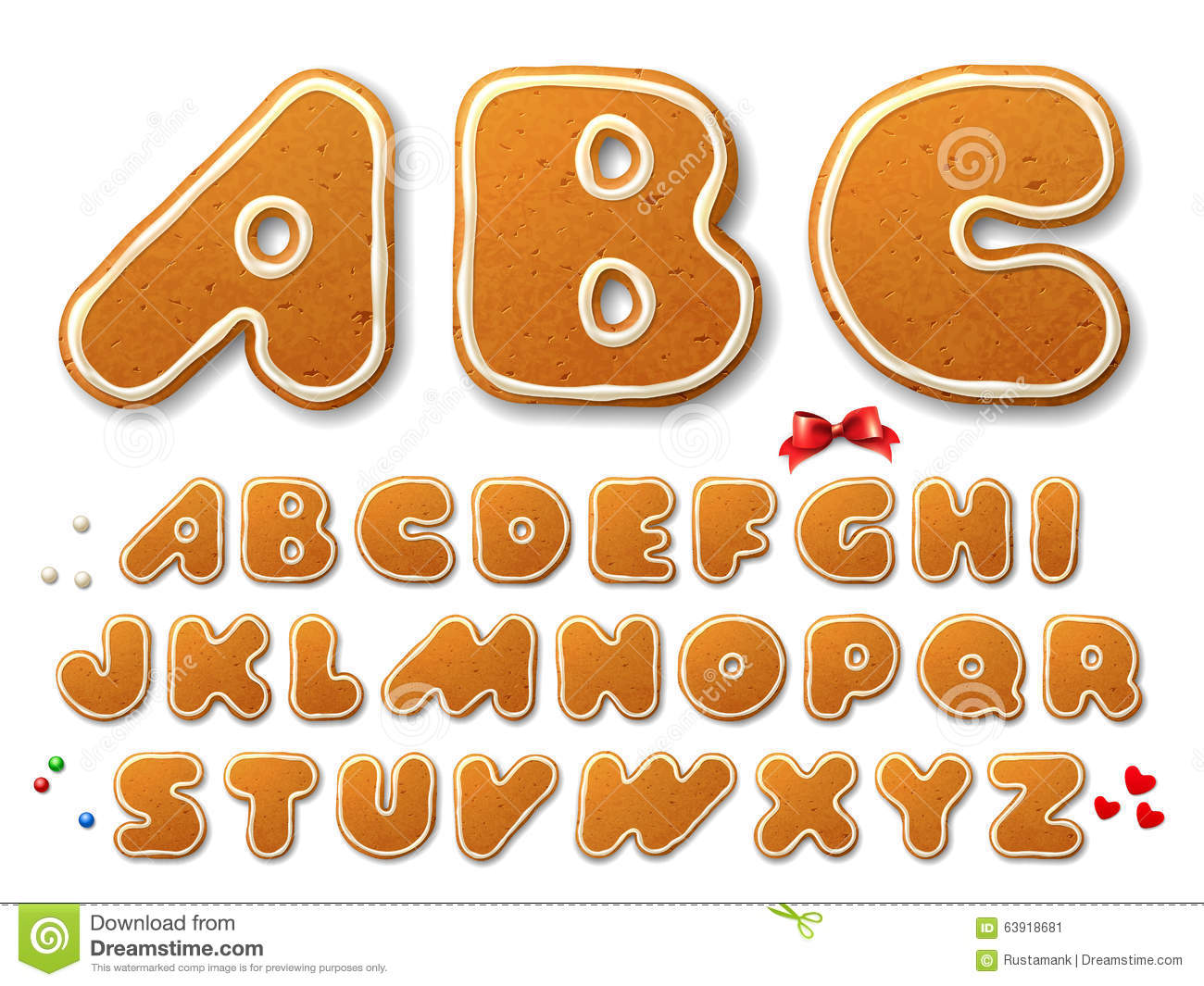 Gingerbread alphabet letter g clipart picture download Gingerbread Alphabet Letters From G Stock Photography - Image ... picture download