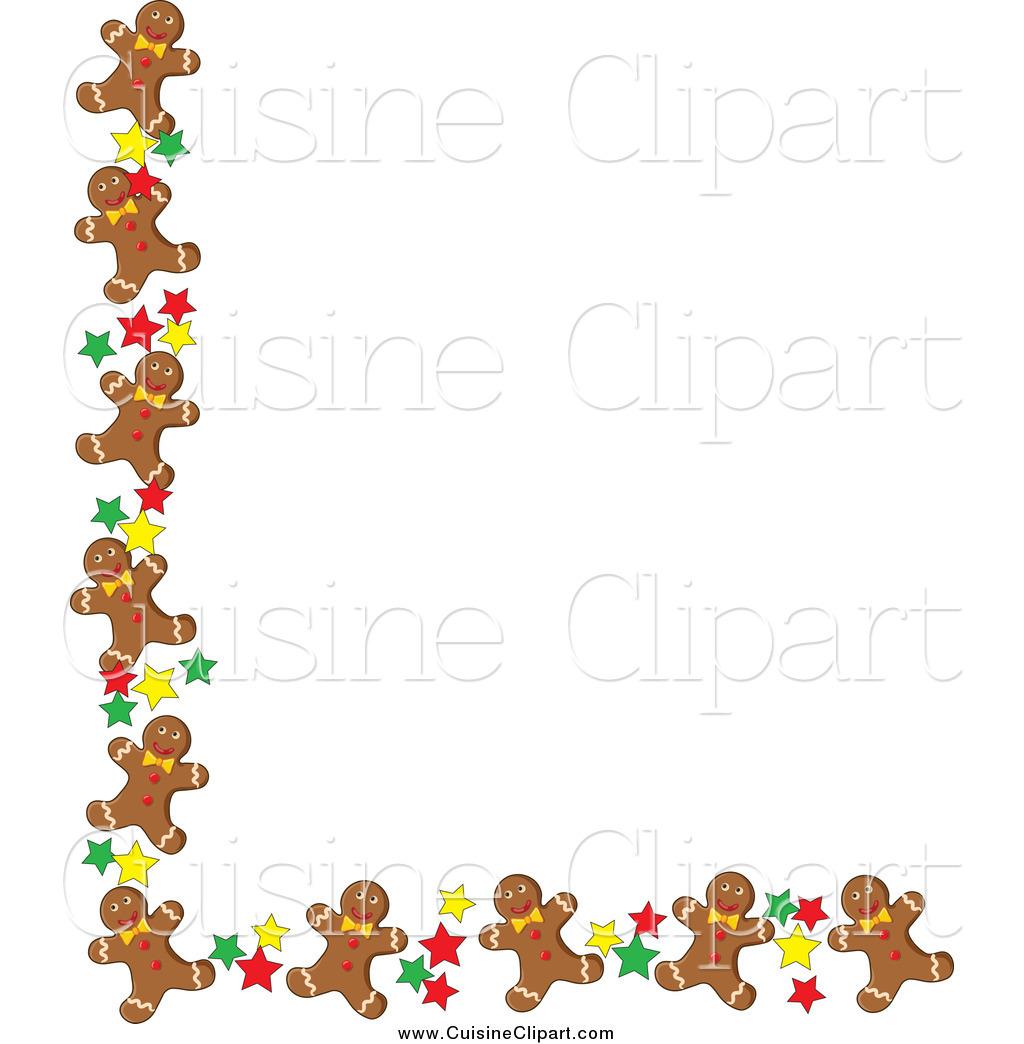 Gingerbread border clipart picture transparent Cuisine Clipart of a Corner Border of Gingerbread Men Cookies and ... picture transparent