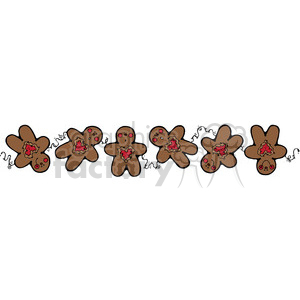 Gingerbread man border clipart free vector freeuse library brown Gingerbread Man Border clipart . Royalty-free clipart # 388023 vector freeuse library