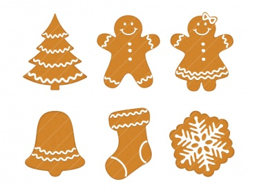 Gingerbread cookie clipart png library stock Christmas Gingerbread Cookies clip art CA016 | Meylah png library stock