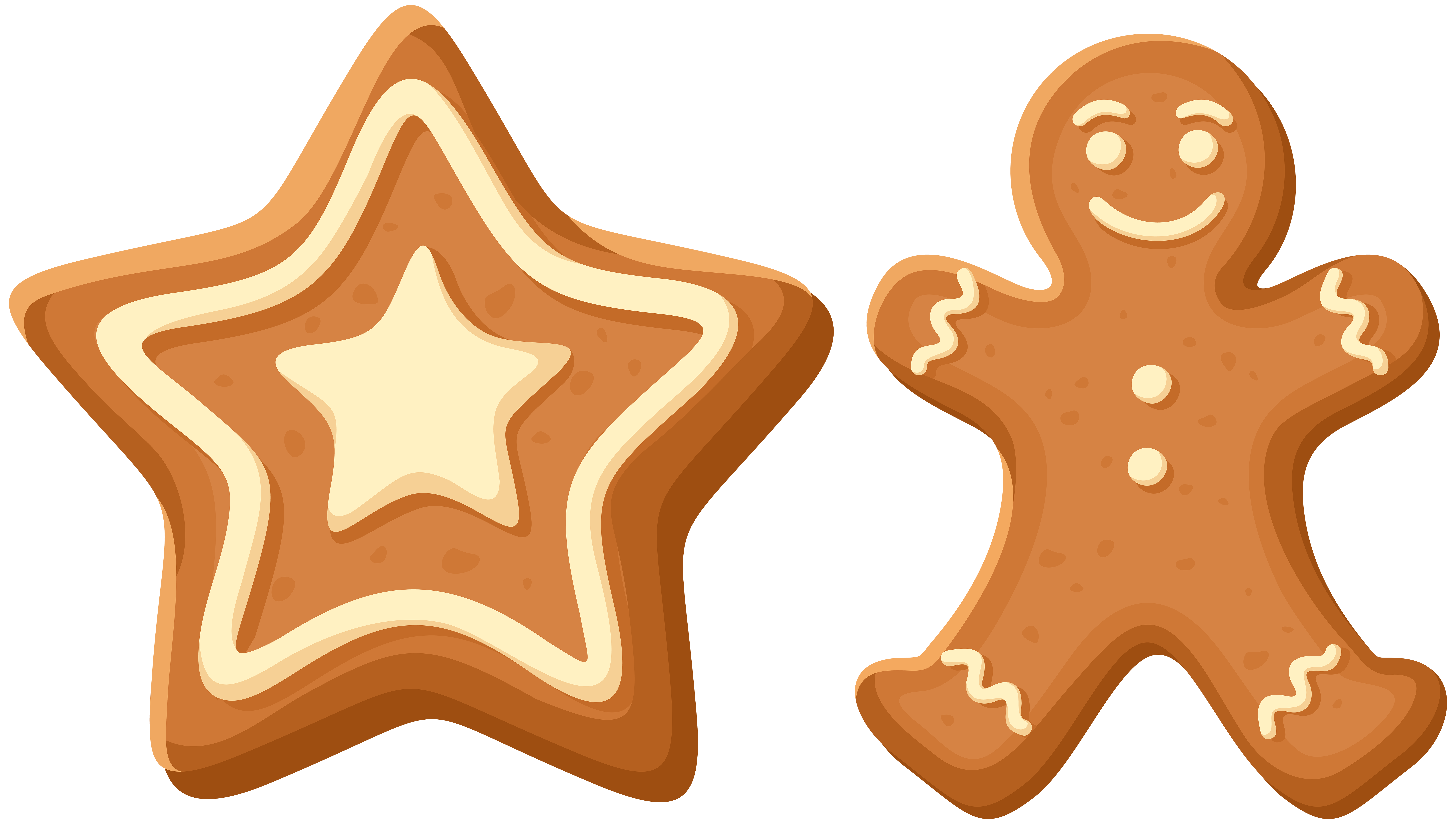 Gingerbread cookie clipart vector library library Christmas Gingerbread Cookies PNG Clip Art | Gallery Yopriceville ... vector library library